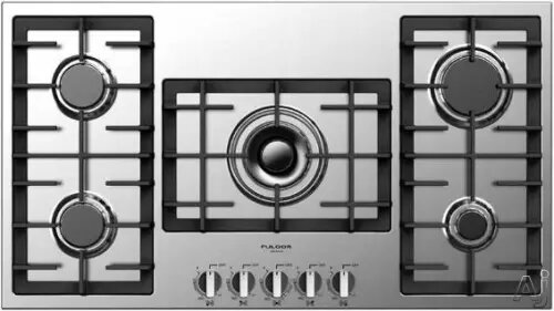 FULGOR Range 36inch in Stainless Steel color showcased by Corbeil Electro Store