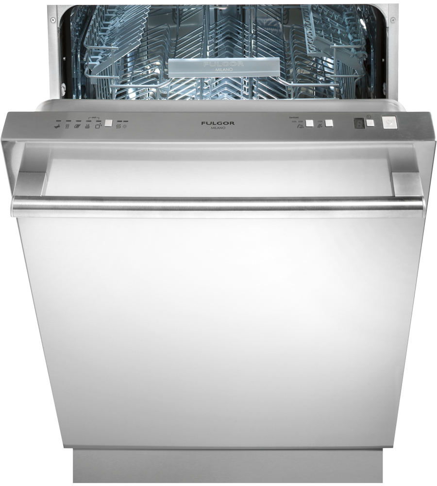 FULGOR Dishwasher 24inch in Stainless Steel color showcased by Corbeil Electro Store