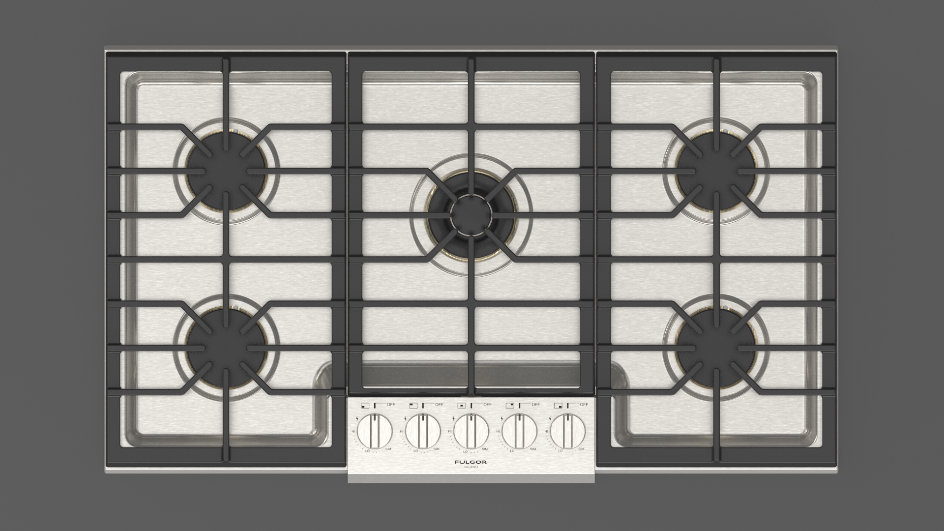 FULGOR Cooktop 36inch in Stainless Steel color showcased by Corbeil Electro Store