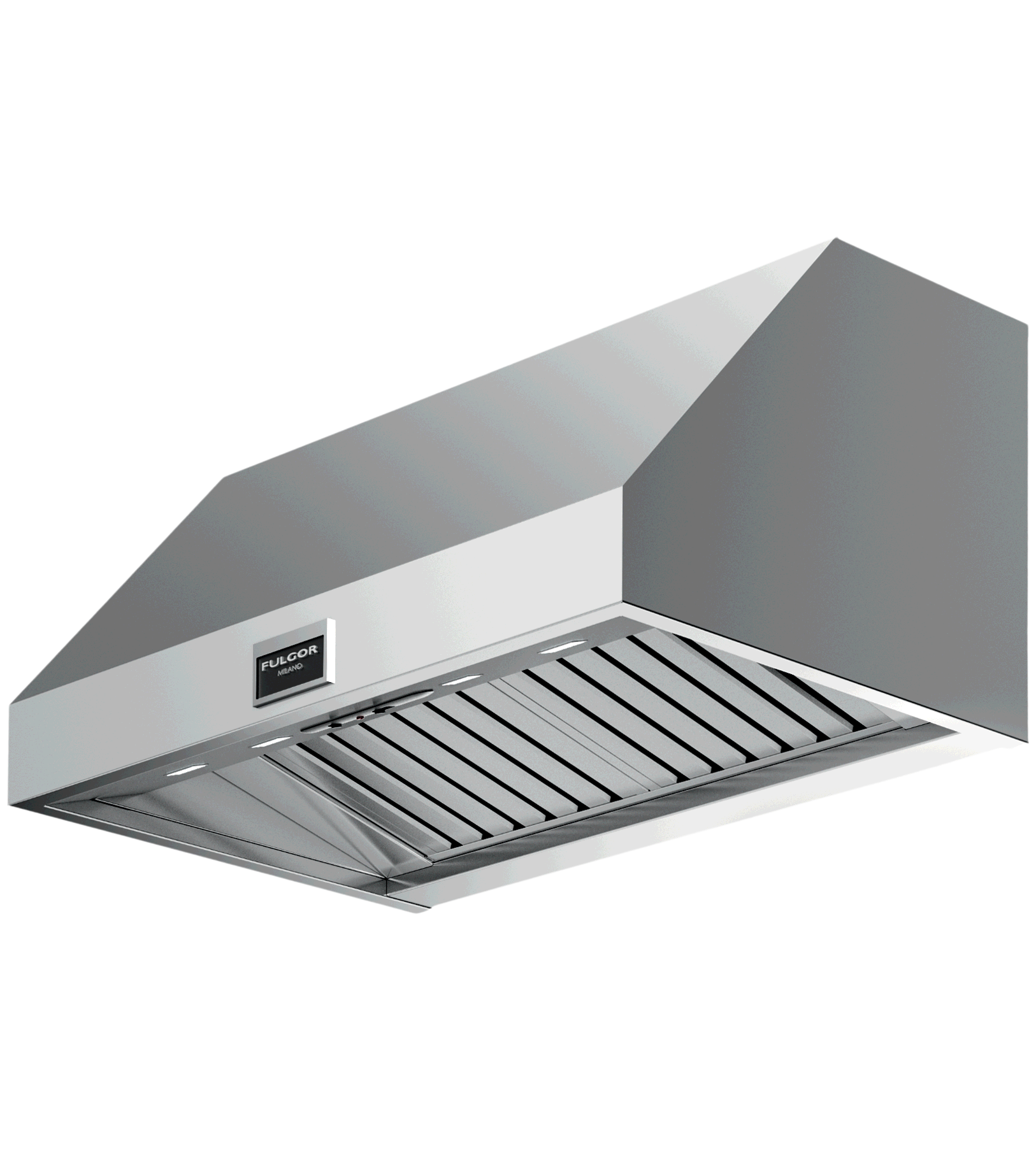 FULGOR Rangehood 48inch in Stainless Steel color showcased by Corbeil Electro Store