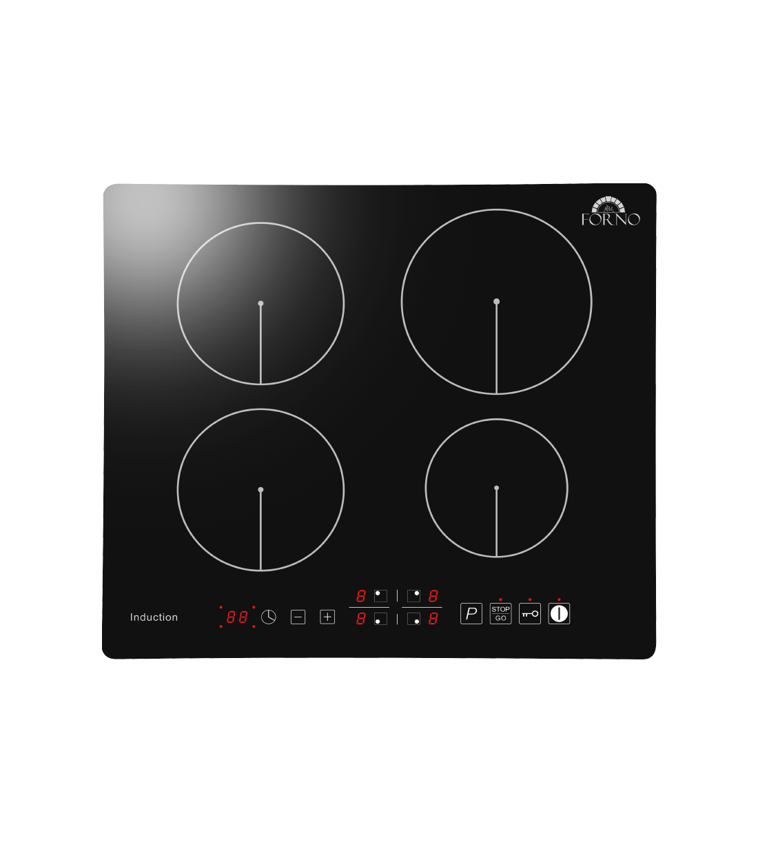 Forno Cooktop in Black color showcased by Corbeil Electro Store
