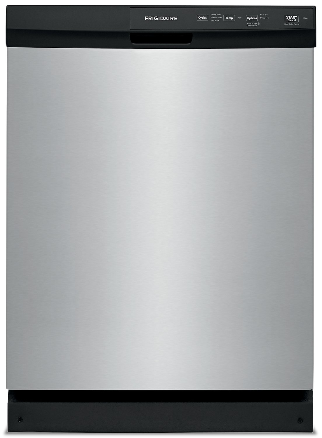 Frigidaire Dishwasher 24 FFCD2413U in Stainless Steel color showcased by Corbeil Electro Store