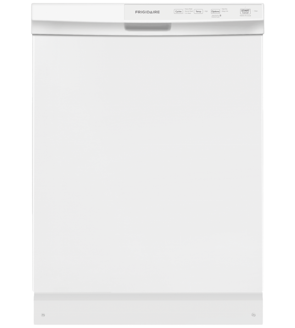 Frigidaire Dishwasher 24 FFCD2413U in White color showcased by Corbeil Electro Store