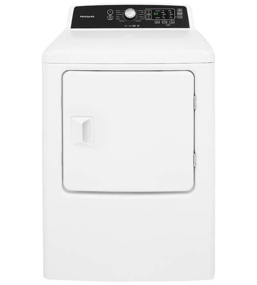 Laveuse-sécheuse superposée Frigidaire en couleur Blanc présenté par Corbeil Electro Store