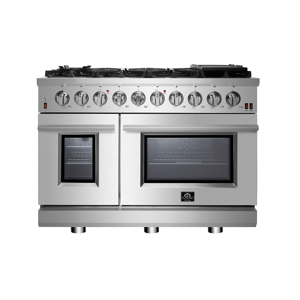 Forno Range in Stainless Steel color showcased by Corbeil Electro Store