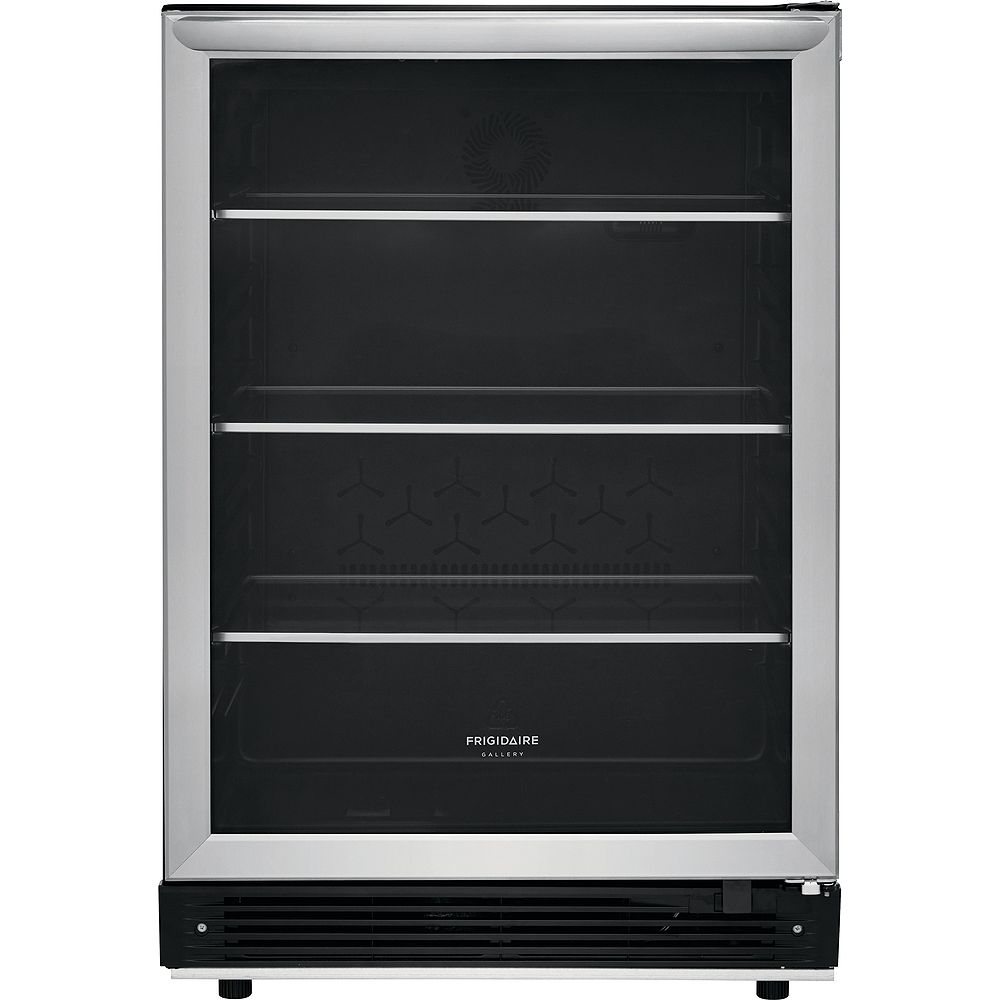 Frigidaire Gallery Beverage center FGBC5334VS in Stainless Steel color showcased by Corbeil Electro Store