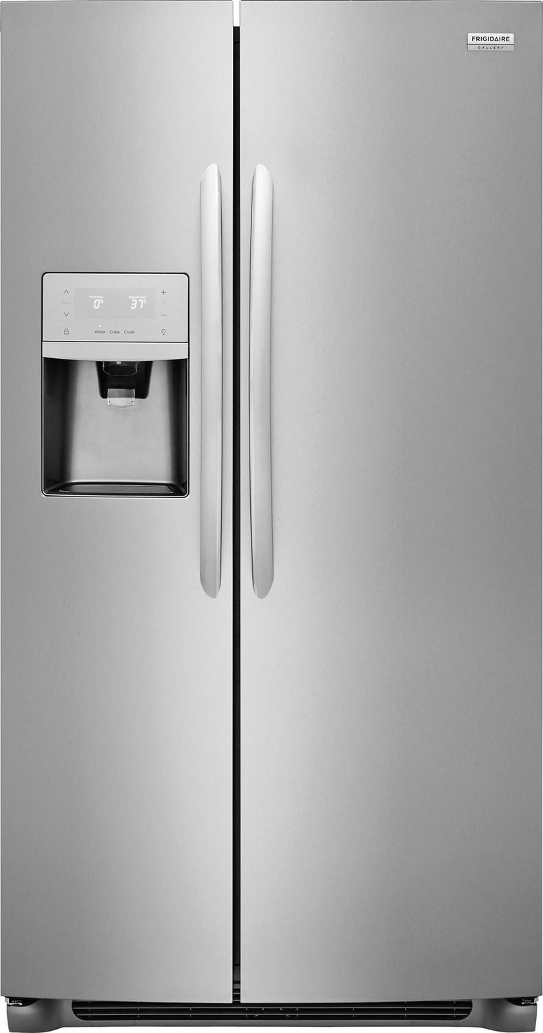 Frigidaire Gallery Refrigerator 33 Stainless Steel in Stainless Steel color showcased by Corbeil Electro Store