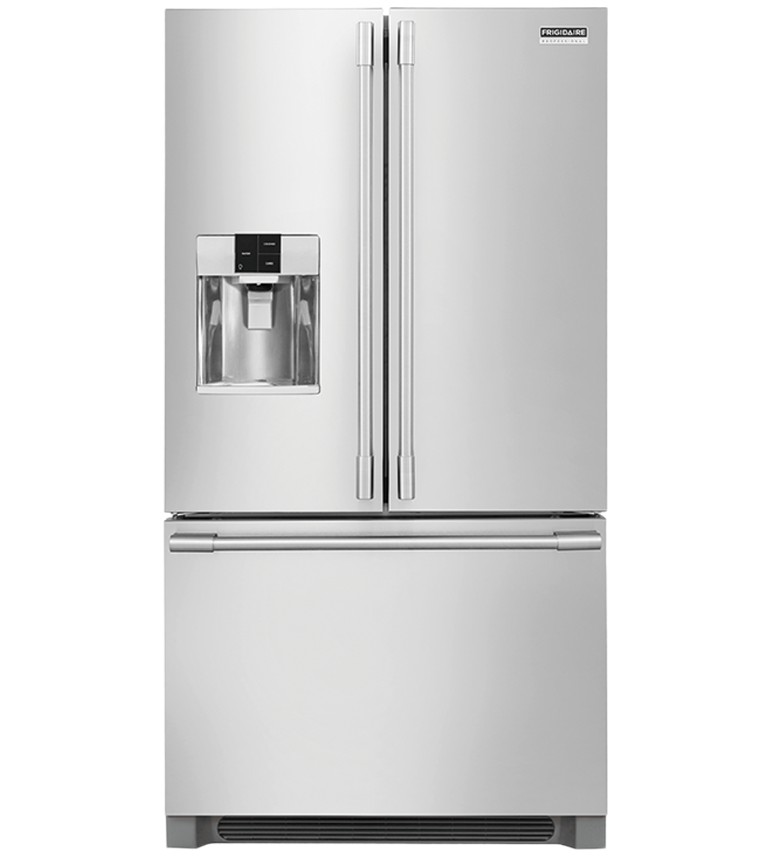 Frigidaire Professional Refrigerator in Stainless Steel color showcased by Corbeil Electro Store