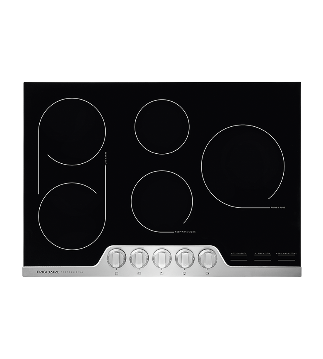 Frigidaire Professional Cooktop in Stainless Steel color showcased by Corbeil Electro Store