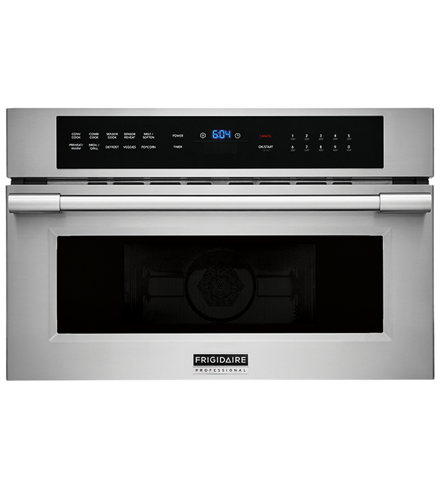 Frigidaire Professional Microwave in Stainless Steel color showcased by Corbeil Electro Store