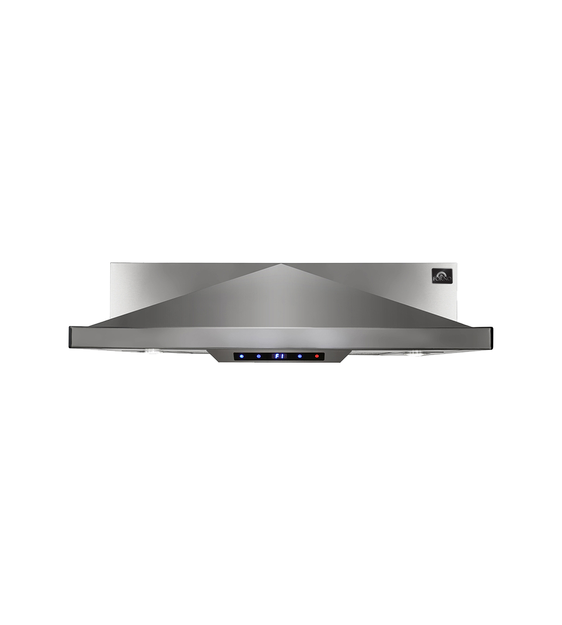 Forno Range Hood 30 Stainless in Stainless Steel color showcased by Corbeil Electro Store