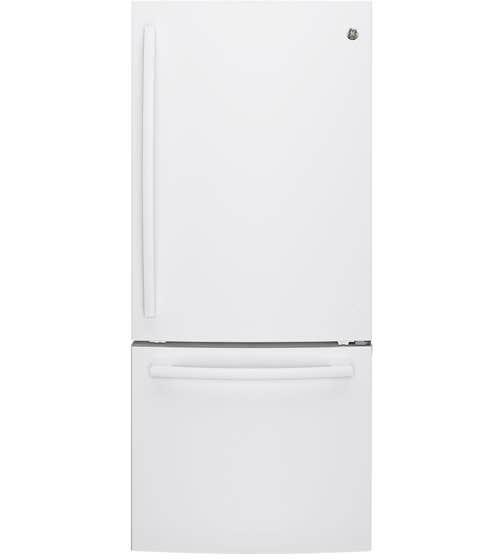 Réfrigérateur GE en couleur Blanc présenté par Corbeil Electro Store