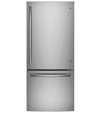 Réfrigérateur GE en couleur Acier Inoxydable présenté par Corbeil Electro Store