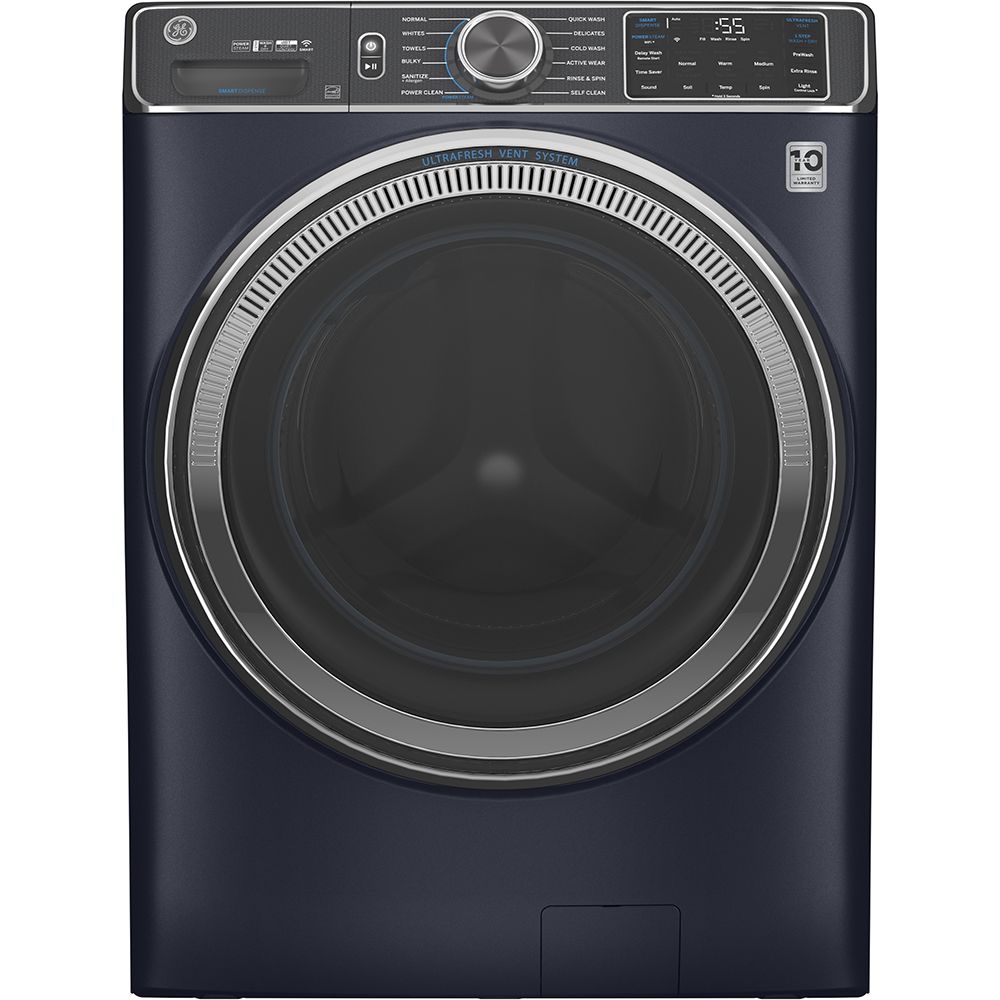 GE Washer GFW850SPNRS in Blue color showcased by Corbeil Electro Store