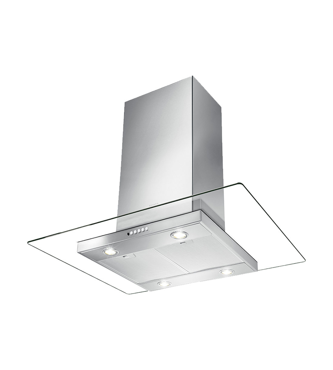 Faber Range hood GLASIS36SSV in Stainless Steel color showcased by Corbeil Electro Store
