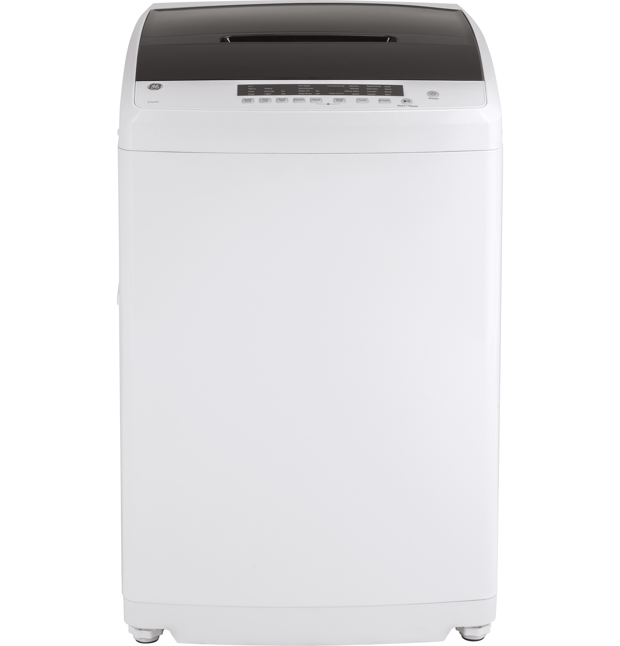 GE Washer 24 White GNW128PSMWW in White color showcased by Corbeil Electro Store