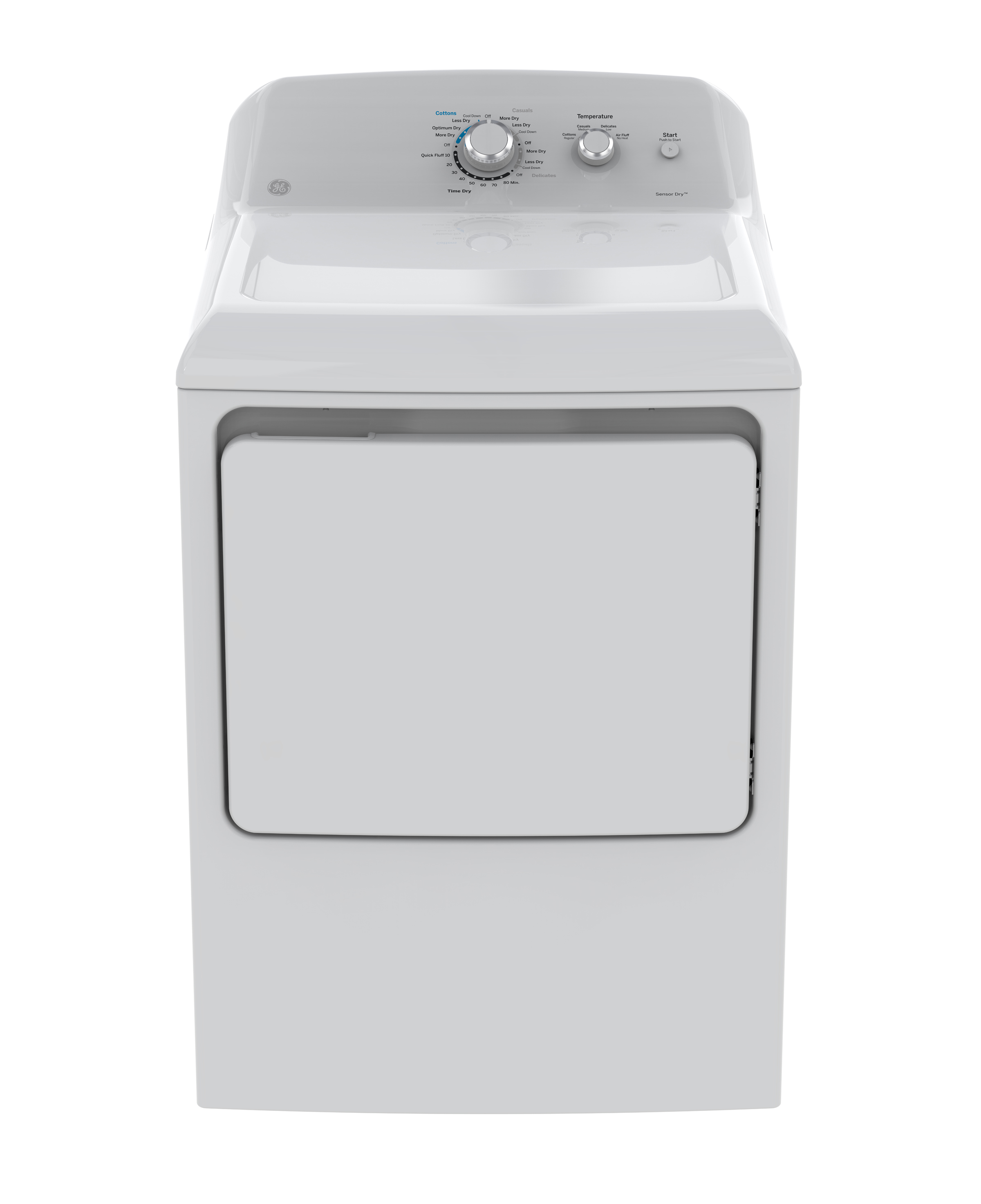 GE Dryer in White color showcased by Corbeil Electro Store