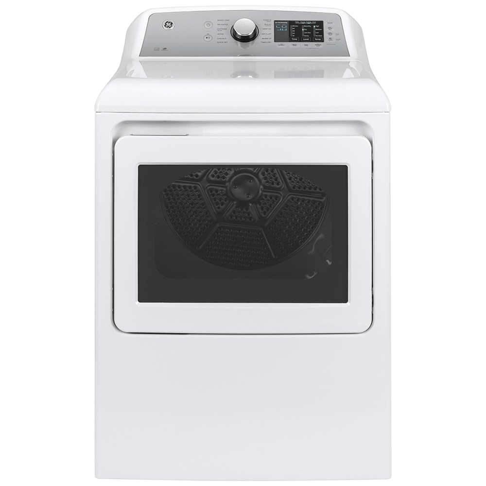 GE Dryer GTD72GBMNWS in White color showcased by Corbeil Electro Store