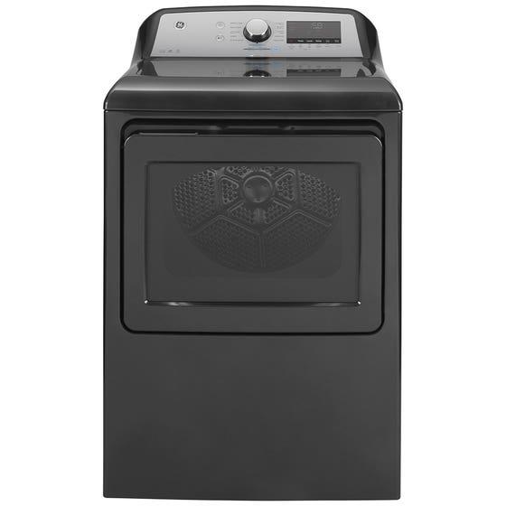 GE Dryer GTD84GCMNDG in Grey color showcased by Corbeil Electro Store
