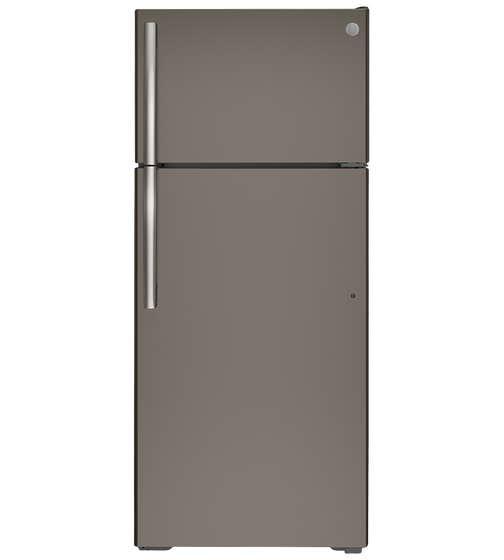 Réfrigérateur GE en couleur Gris présenté par Corbeil Electro Store