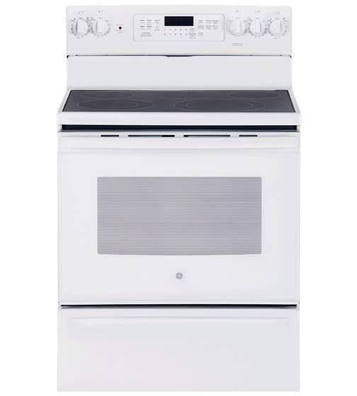 GE Cuisiniere 30 JCB840 en couleur Blanc présenté par Corbeil Electro Store