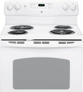 GE Cuisiniere 30 Blanc JCBP240DMWW en couleur Blanc présenté par Corbeil Electro Store