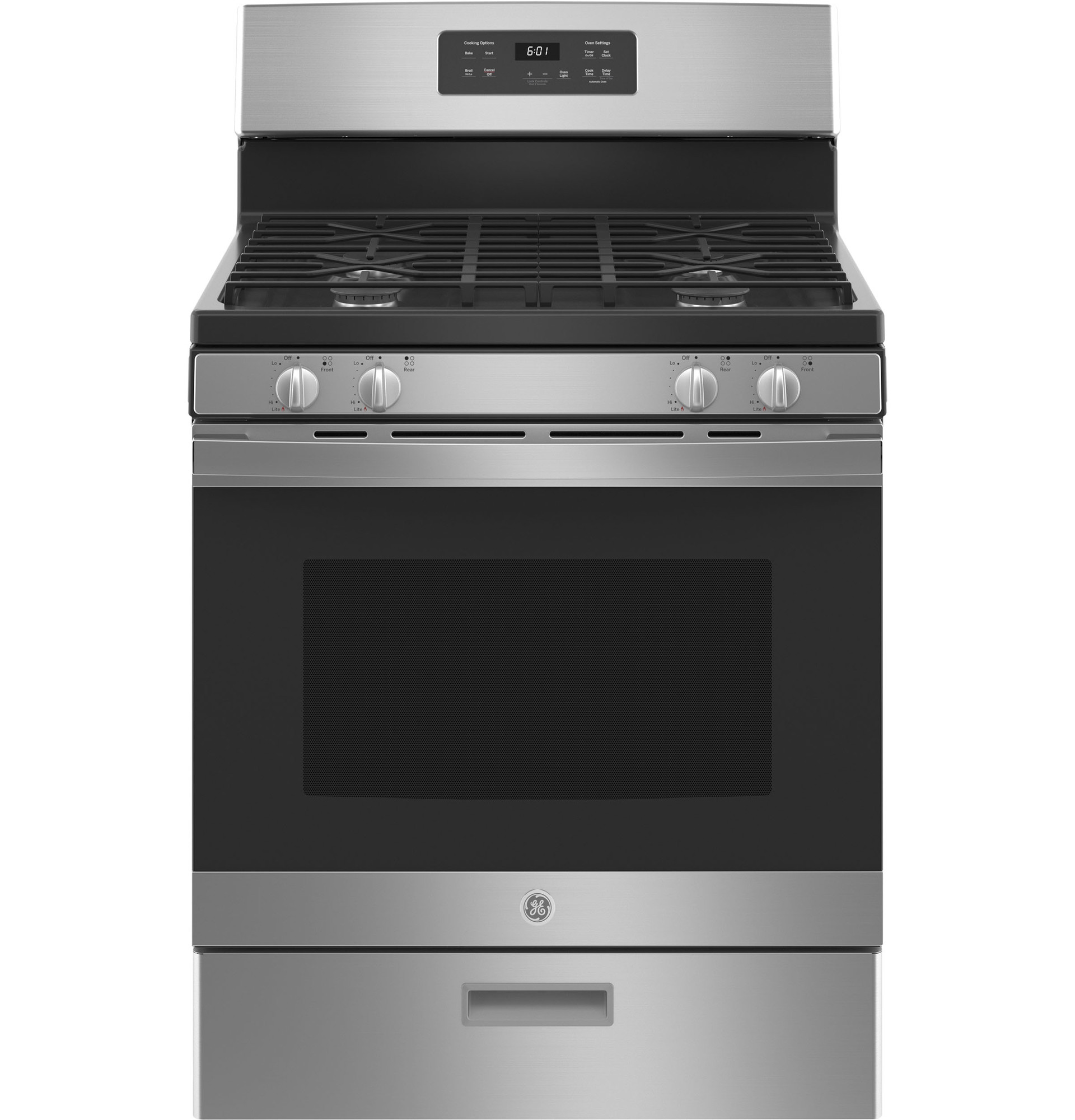 GE Range JCGBS61RPSS in Stainless Steel color showcased by Corbeil Electro Store