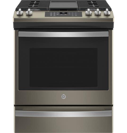 GE Cuisinière JCGS760EPES en couleur Ardoise présenté par Corbeil Electro Store