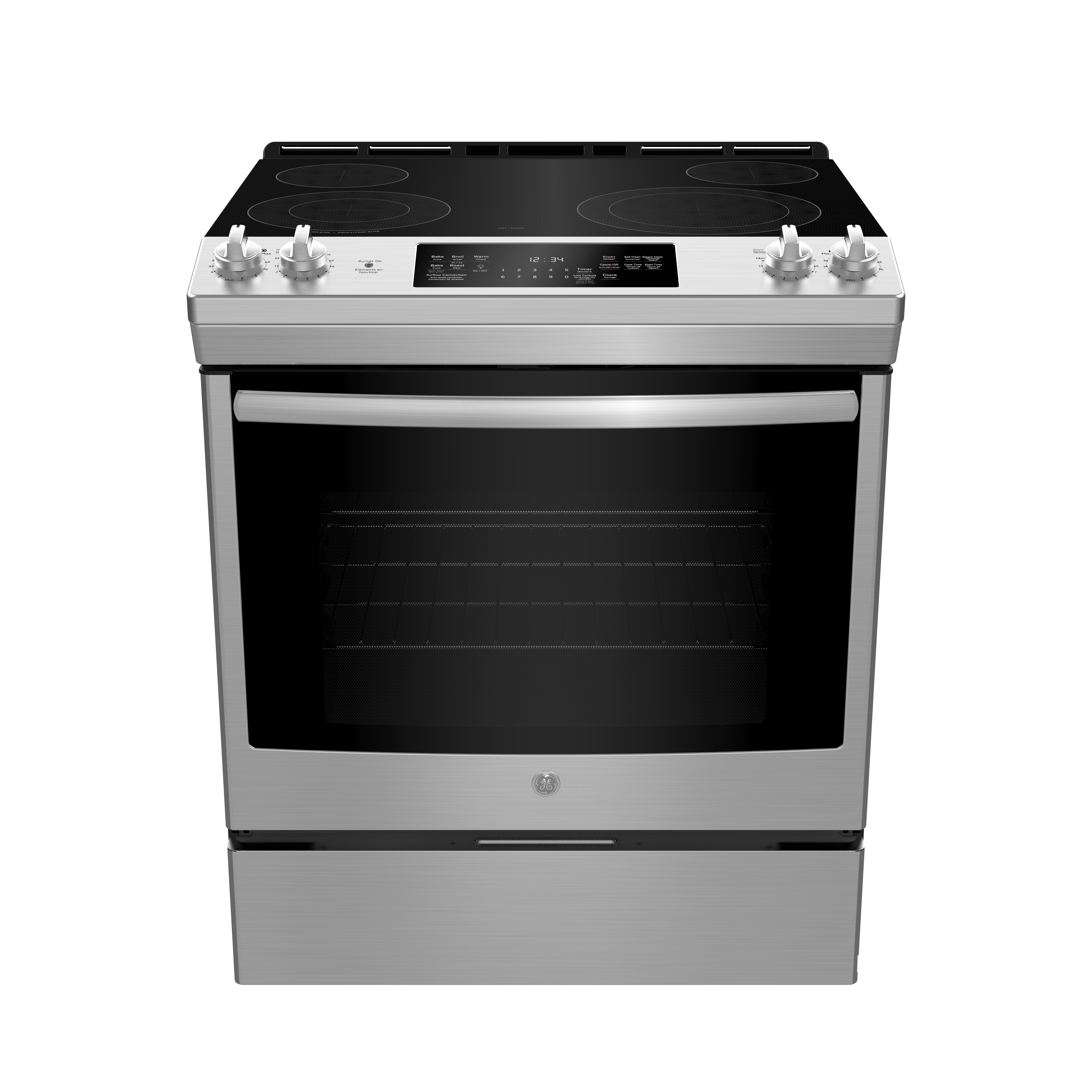 GE Range 30 StainlessSteel JCS830SMSS in Stainless Steel color showcased by Corbeil Electro Store