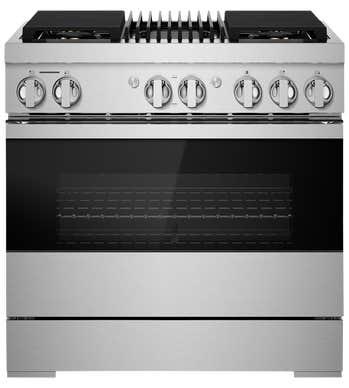 Cuisinière Jenn-Air en couleur Acier Inoxydable Noir présenté par Corbeil Electro Store