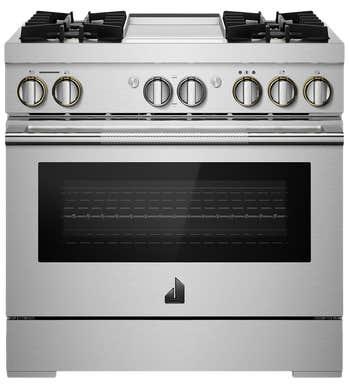 Cuisinière Jenn-Air en couleur Acier Inoxydable présenté par Corbeil Electro Store