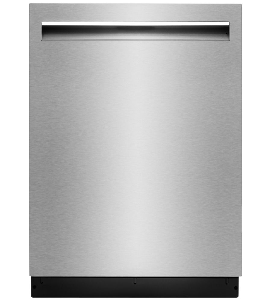 Jenn-Air dishwasher in Stainless Steel color showcased by Corbeil Electro Store