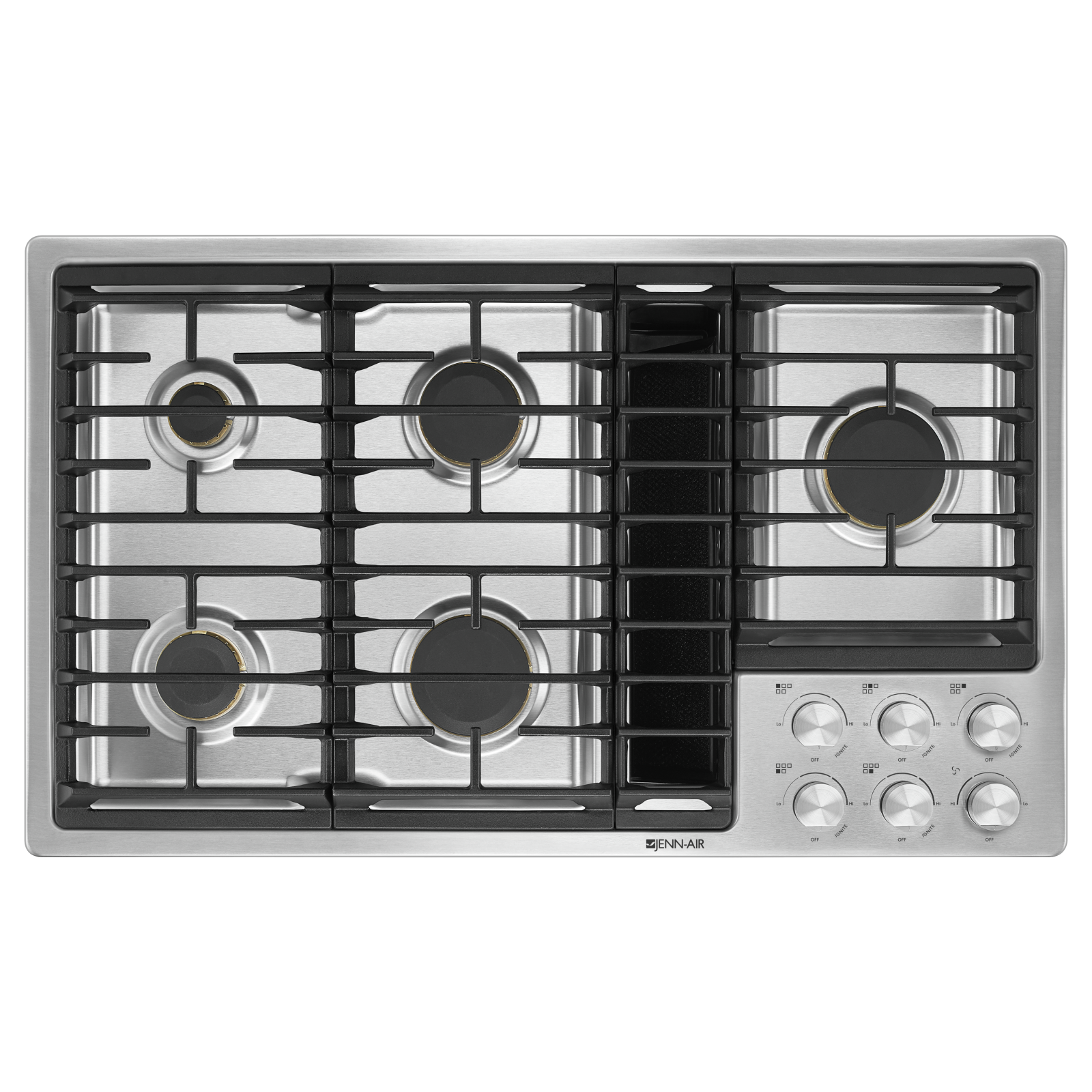 Jenn-Air Cooktop in Stainless Steel color showcased by Corbeil Electro Store