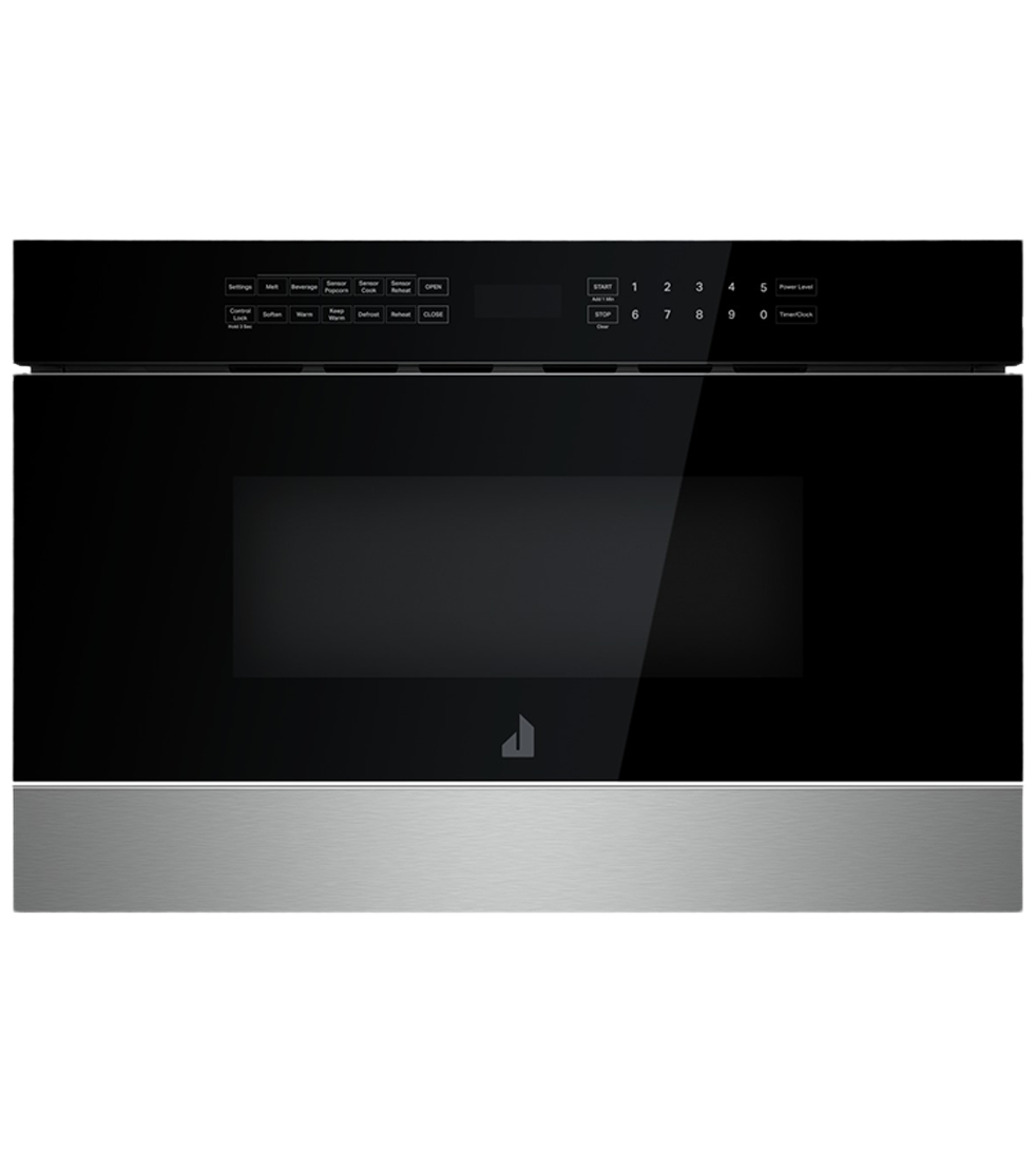 Jenn-Air microwave in Black color showcased by Corbeil Electro Store