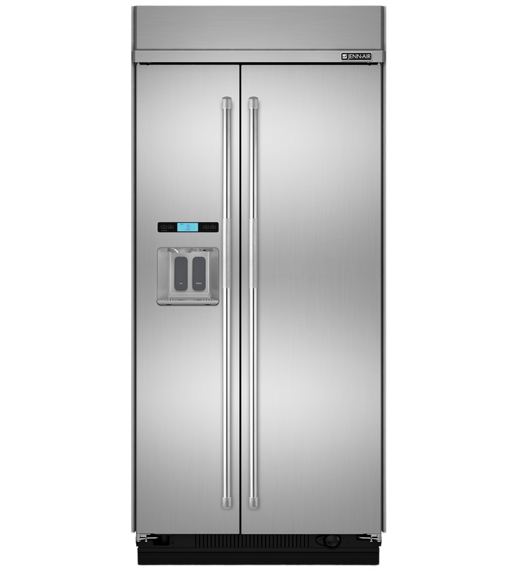 Jenn-Air Refrigerator in Stainless Steel color showcased by Corbeil Electro Store