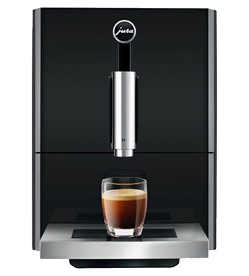 Jura Coffee machine in Black color showcased by Corbeil Electro Store