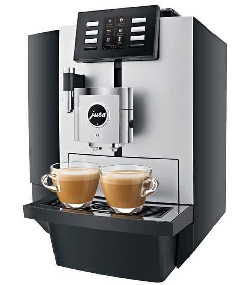 Jura Espresso Machine 15 Silver JU15177 in Silver color showcased by Corbeil Electro Store