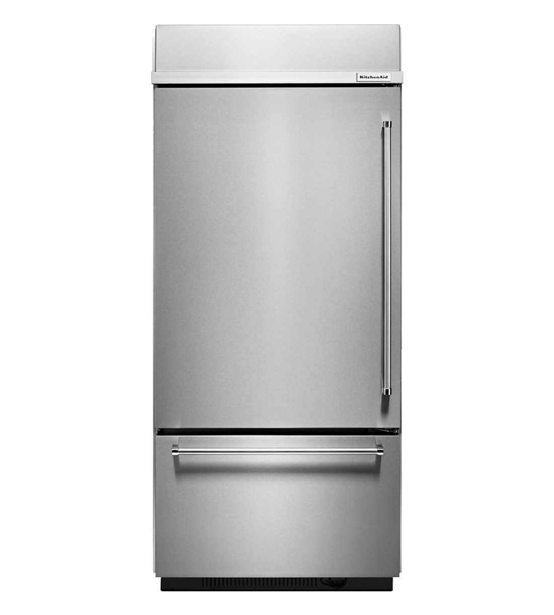 Kitchen Aid Refrigerator in Stainless Steel color showcased by Corbeil Electro Store