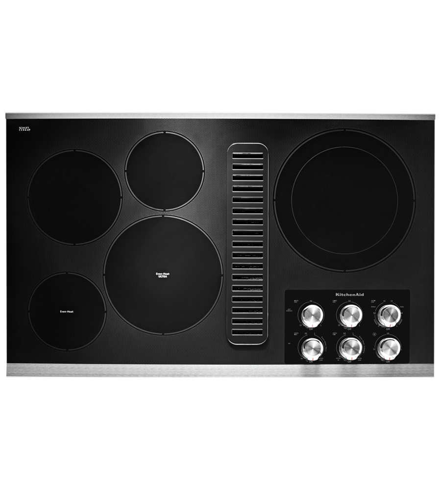 Kitchen Aid cooktop showcased by Corbeil Electro Store