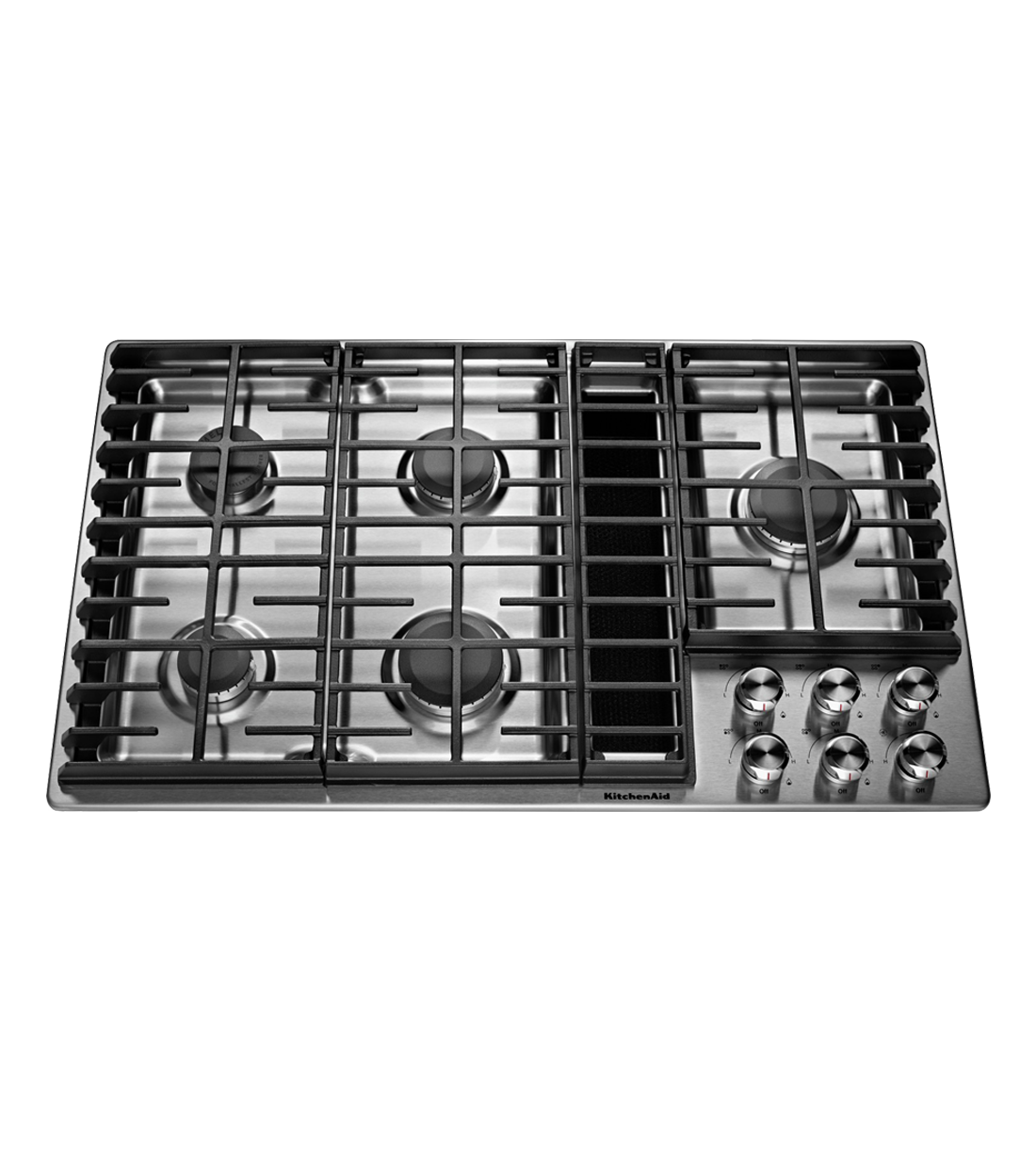 Kitchen Aid cooktop in Stainless Steel color showcased by Corbeil Electro Store