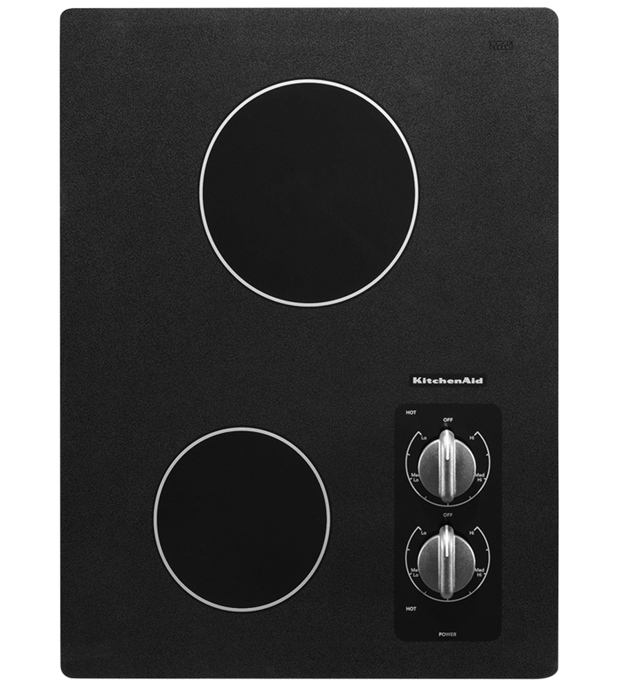 Kitchen Aid cooktop in Black color showcased by Corbeil Electro Store