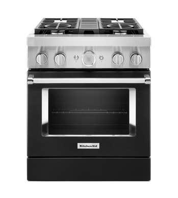 Cuisnière Kitchen Aid en couleur Noir présenté par Corbeil Electro Store