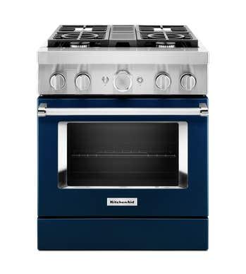 Cuisnière Kitchen Aid en couleur Bleu présenté par Corbeil Electro Store