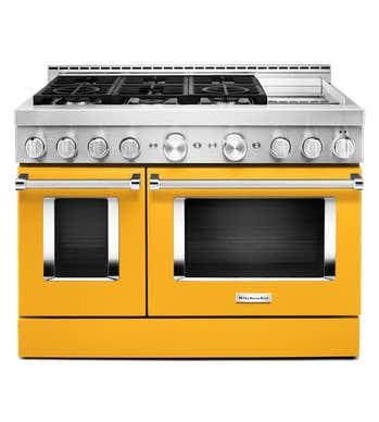 Cuisnière Kitchen Aid en couleur Jaune présenté par Corbeil Electro Store
