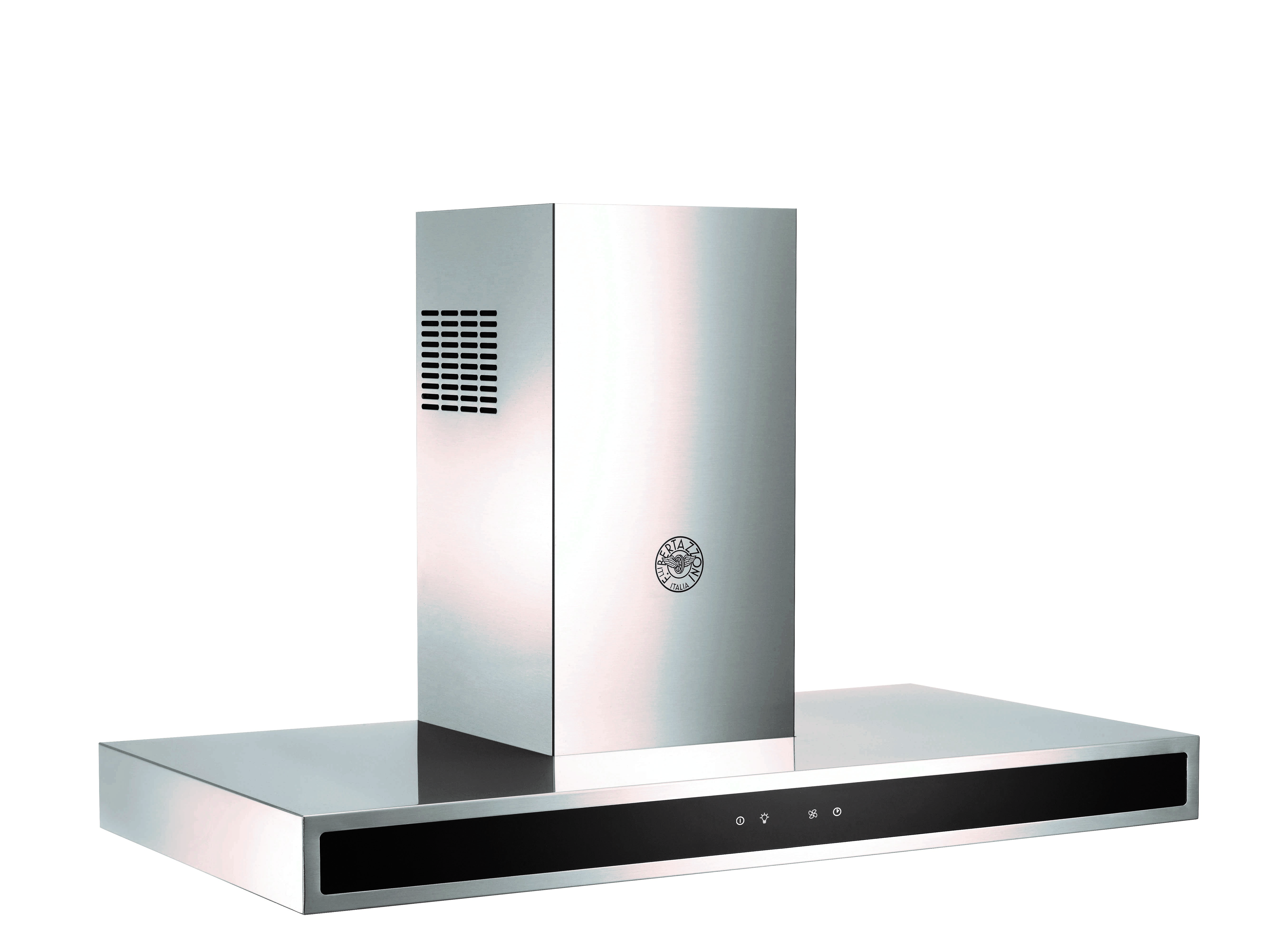 Bertazzoni Range hood KG36X in Stainless Steel color showcased by Corbeil Electro Store