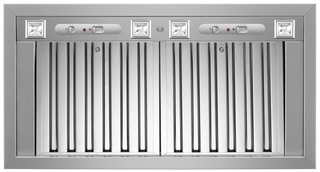 Bertazzoni Rangehood 46inch in Stainless Steel color showcased by Corbeil Electro Store