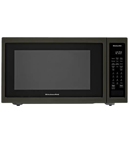 Micro-onde KitchenAid en couleur Acier Inoxydable Noir présenté par Corbeil Electro Store