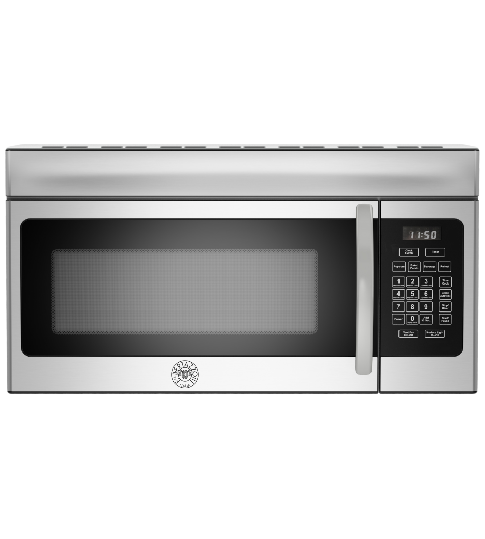 Bertazzoni Microwave 30inch in Stainless Steel color showcased by Corbeil Electro Store