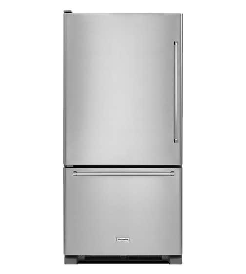 Refrigerateur Kitchen Aid en couleur Acier Inoxydable présenté par Corbeil Electro Store