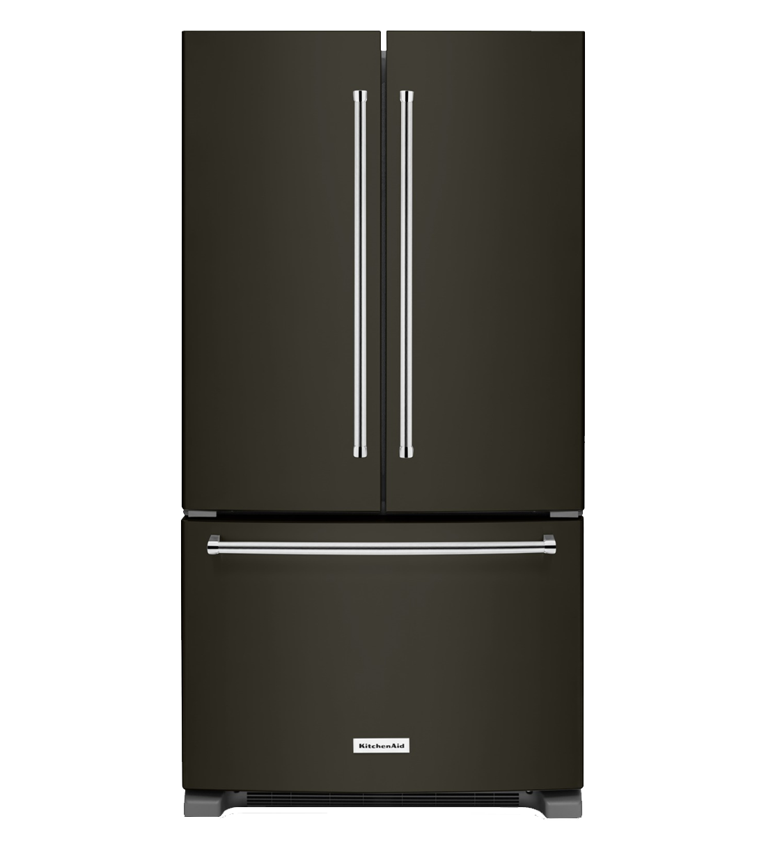 Kitchen Aid Refrigerator in Black Stainless Steel color showcased by Corbeil Electro Store